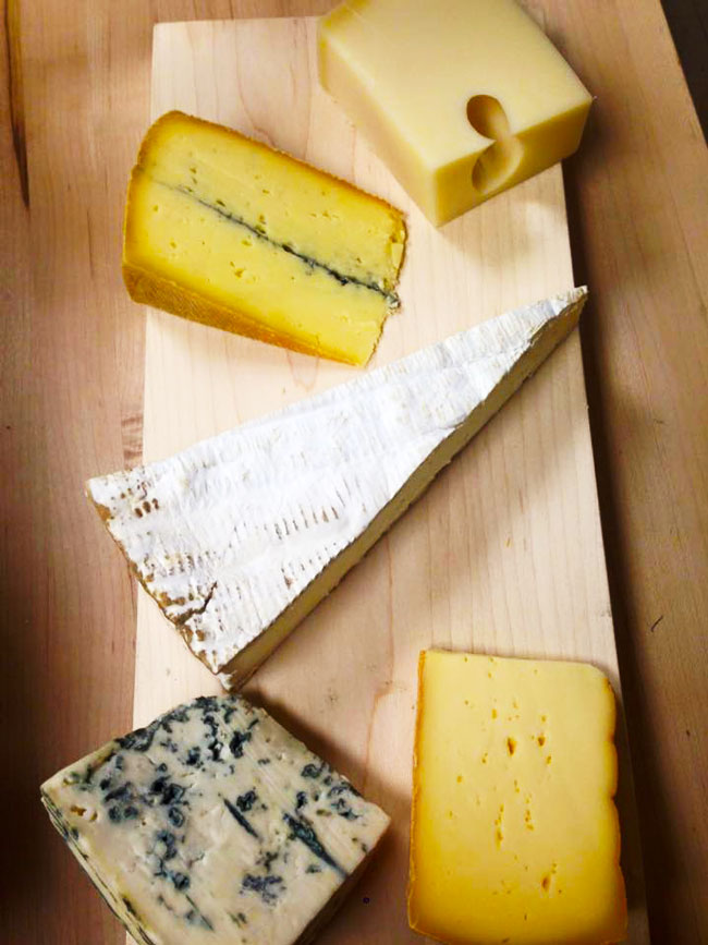 homemade cheese on table