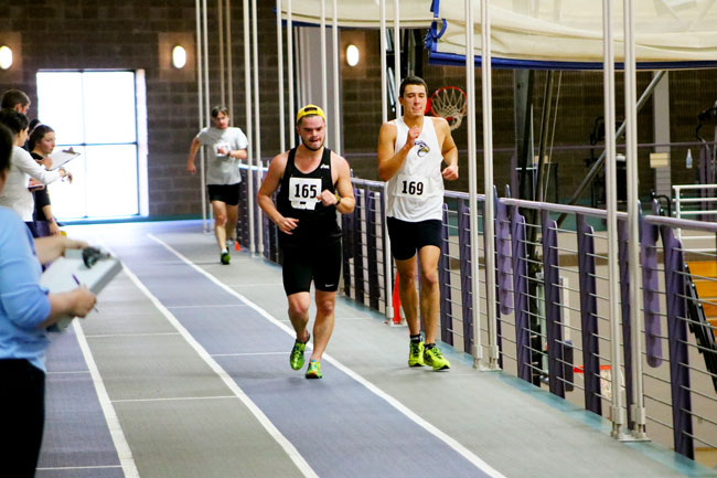 Nationals track team in action.