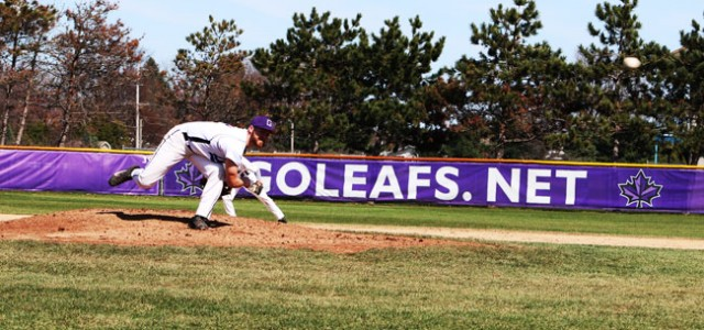 Baseball earns split with Siena Heights