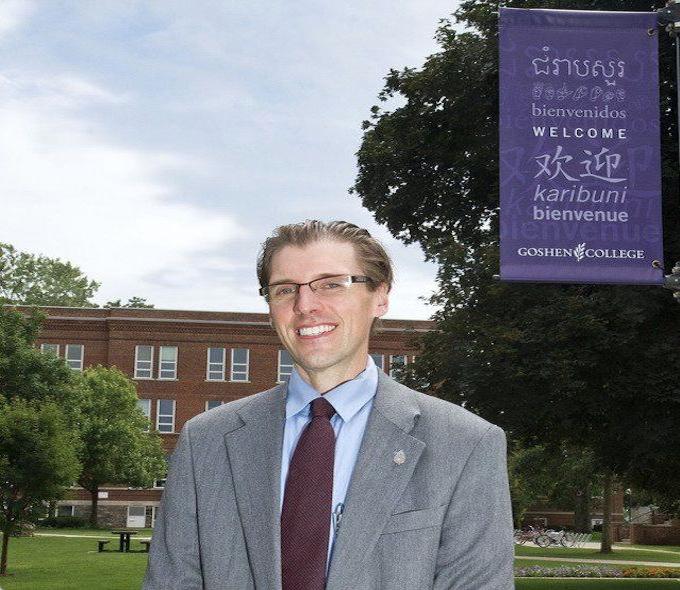 President Kenneth Newbold on campus