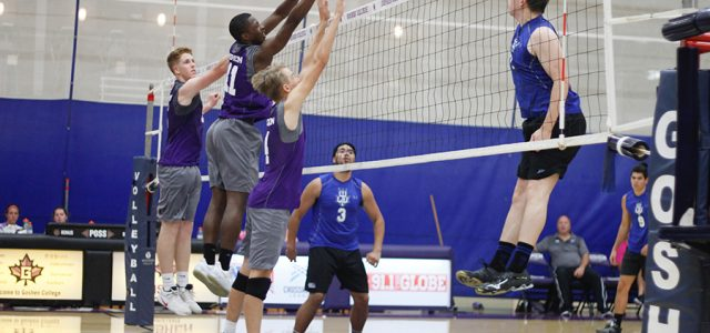 Men's volleyball plays first match