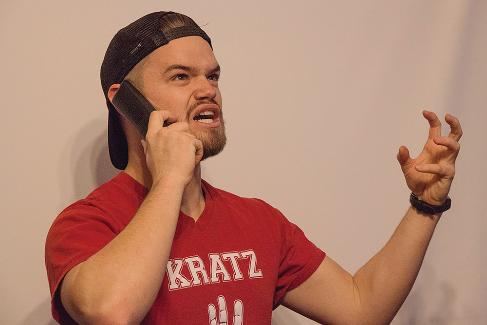 Sawyer Biddle has an angry phone conversation