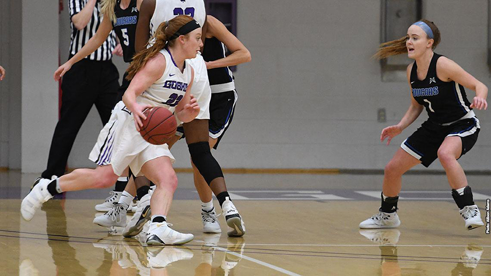 Carley O'Neal, a senior, scored a career-high 28 points in her final game at Goshen College