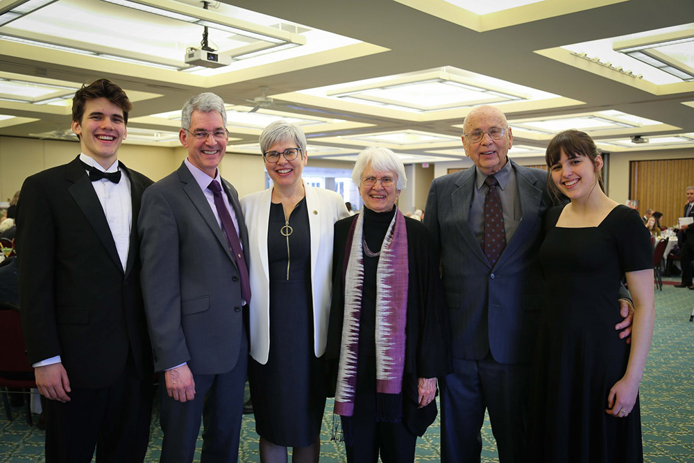 President Stoltzfus and her family