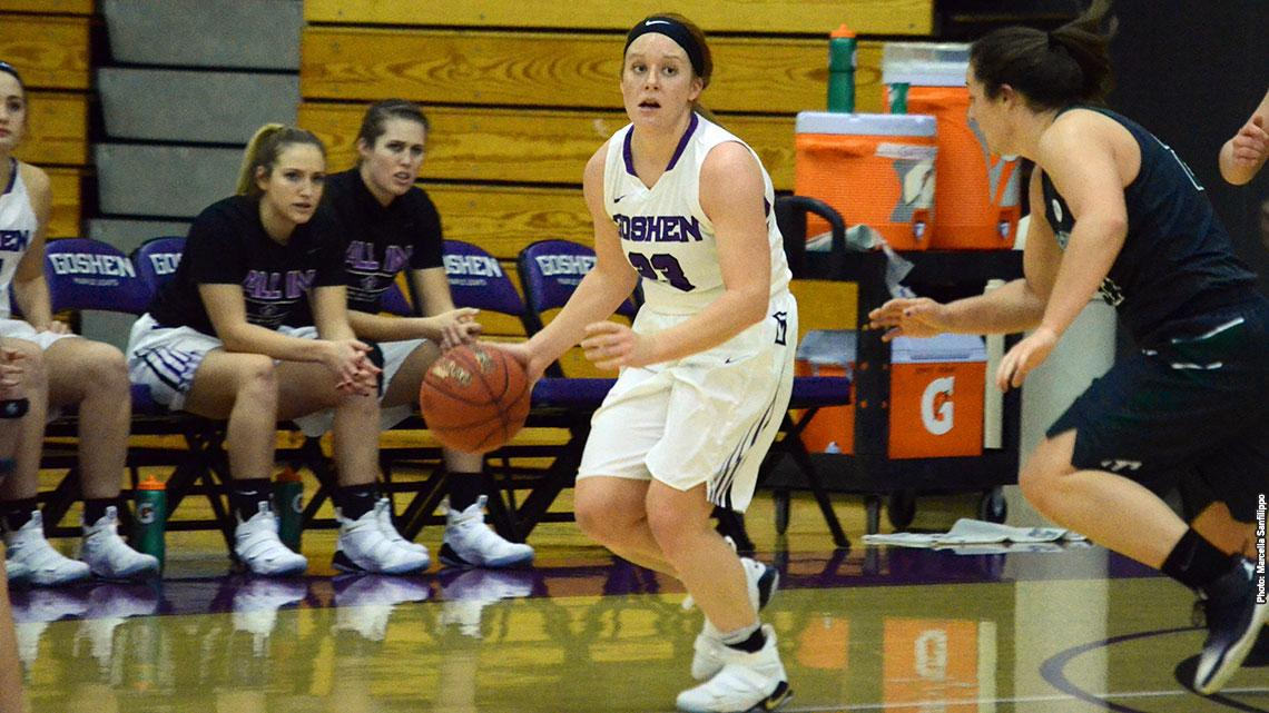 Senior Carley O'Neal scored a team-high 16 points in Goshen's loss to Taylor