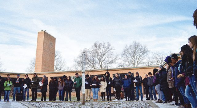 Students participate in walkout