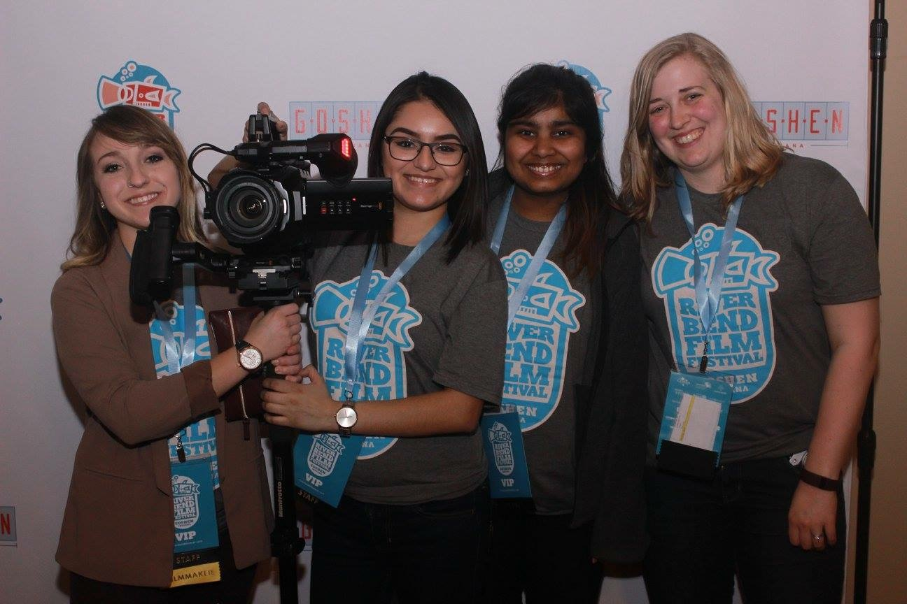Students work at River Bend Film Festival