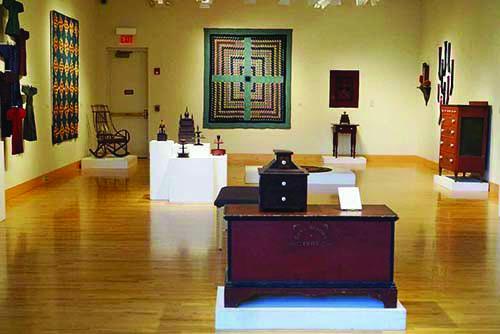 Art gallery full of Amish Folk Art