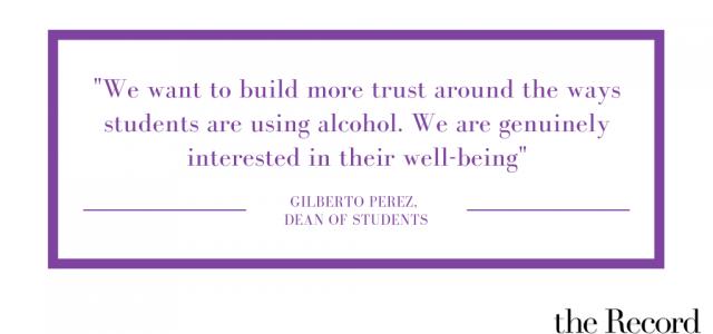 College pursues 'culture of care' in alcohol protocol shift
