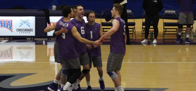 Men's volleyball falls in first road test of the year