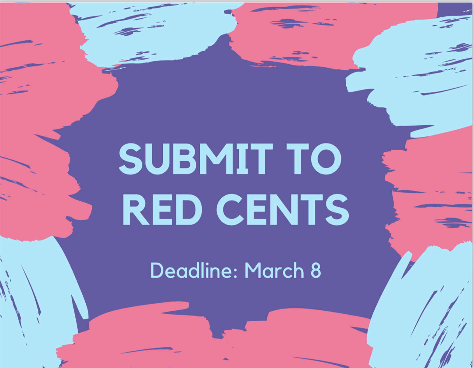 """Graphic saying """"submit to red cents"""""""
