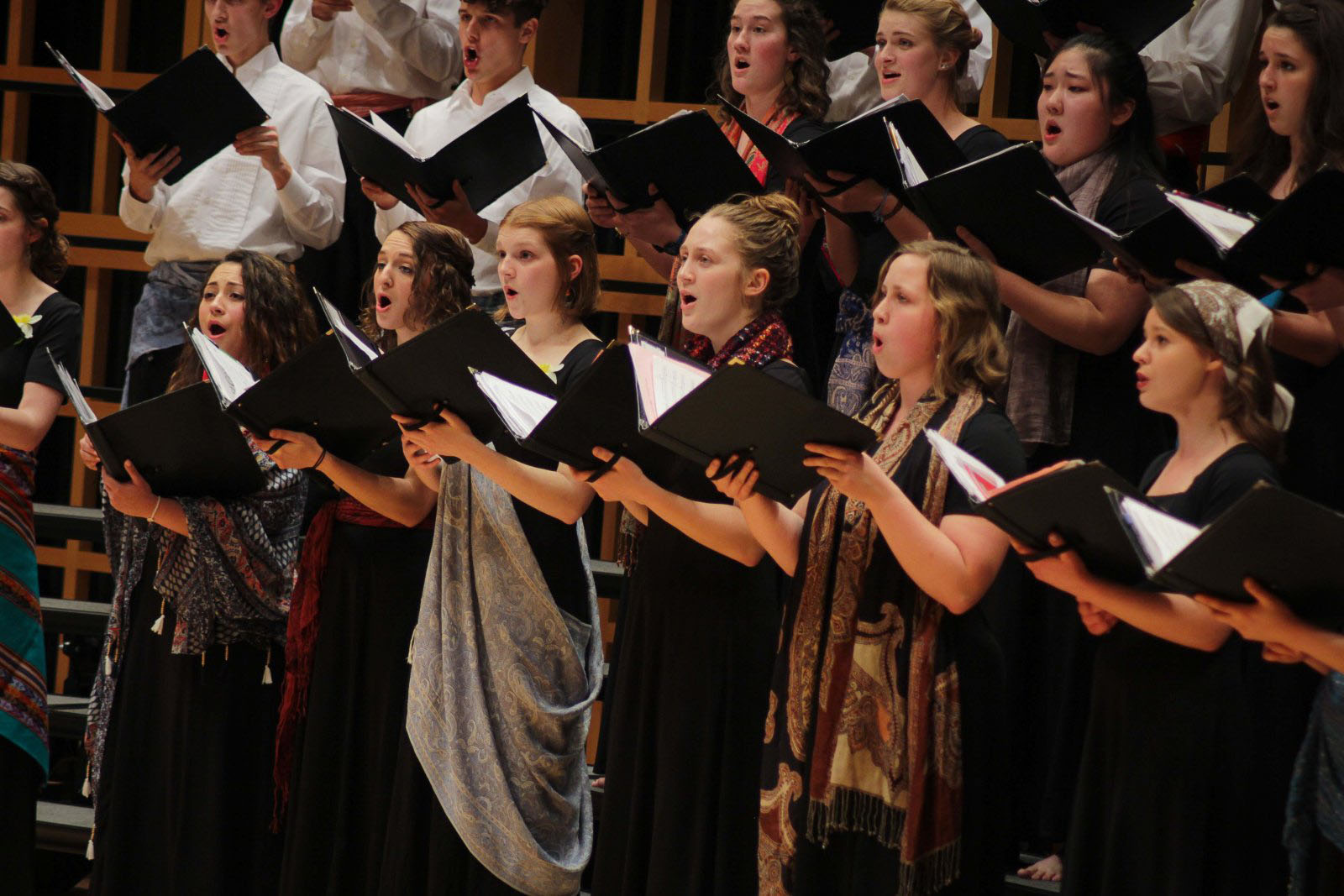 Voices of the Earth performs in a concert in Sauder Concert Hall