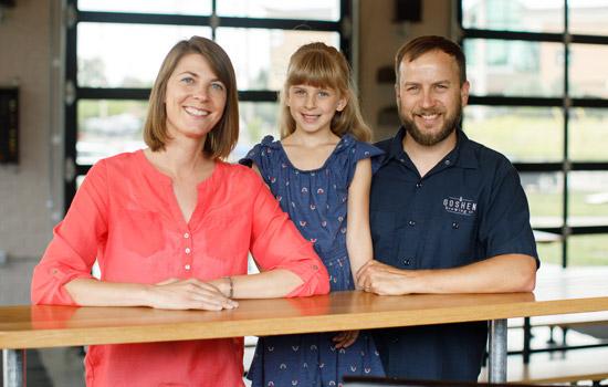 Sensenig family inside GB Co