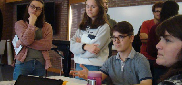 Students participate in mock UN climate negotiation