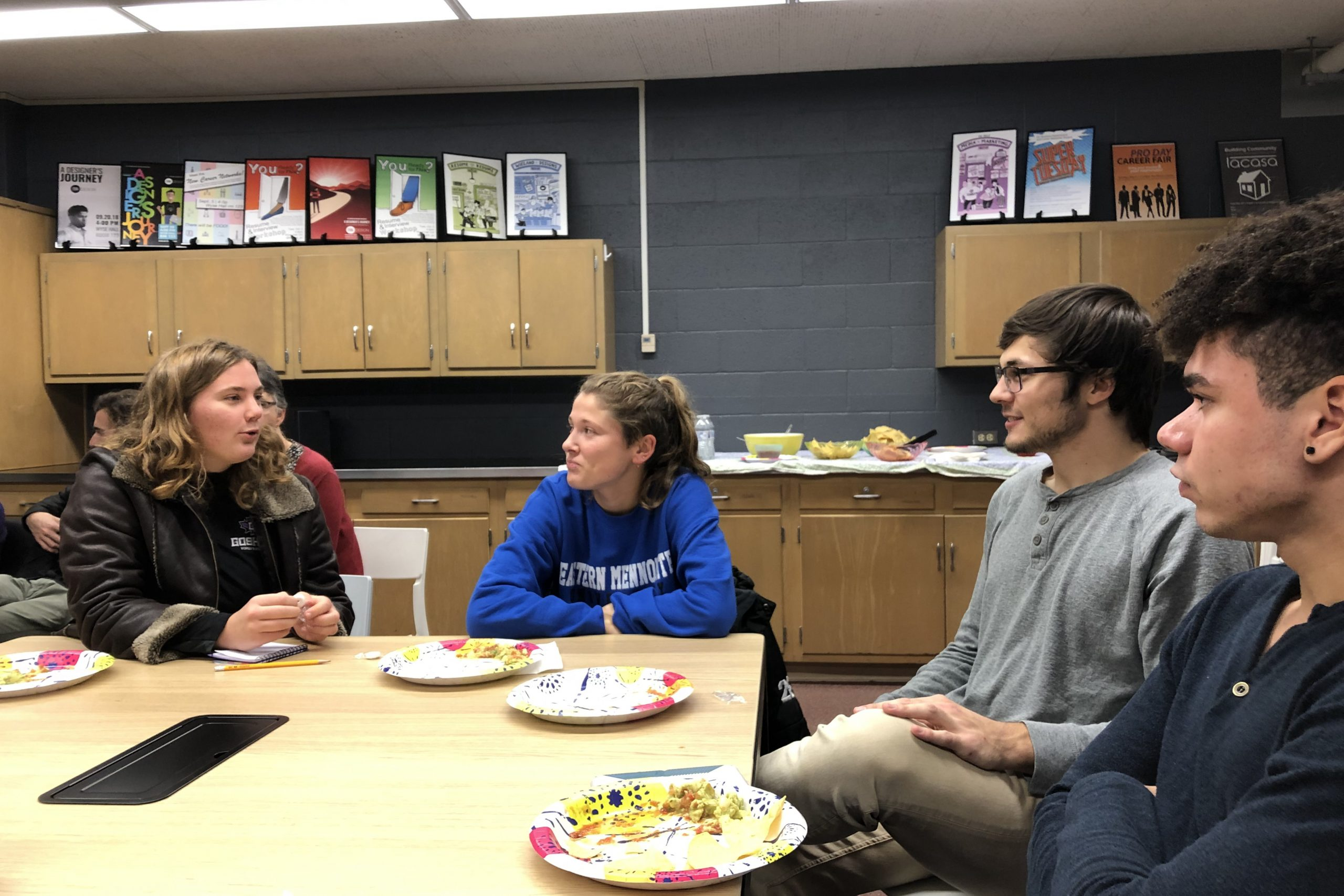 students participate in sst discussion