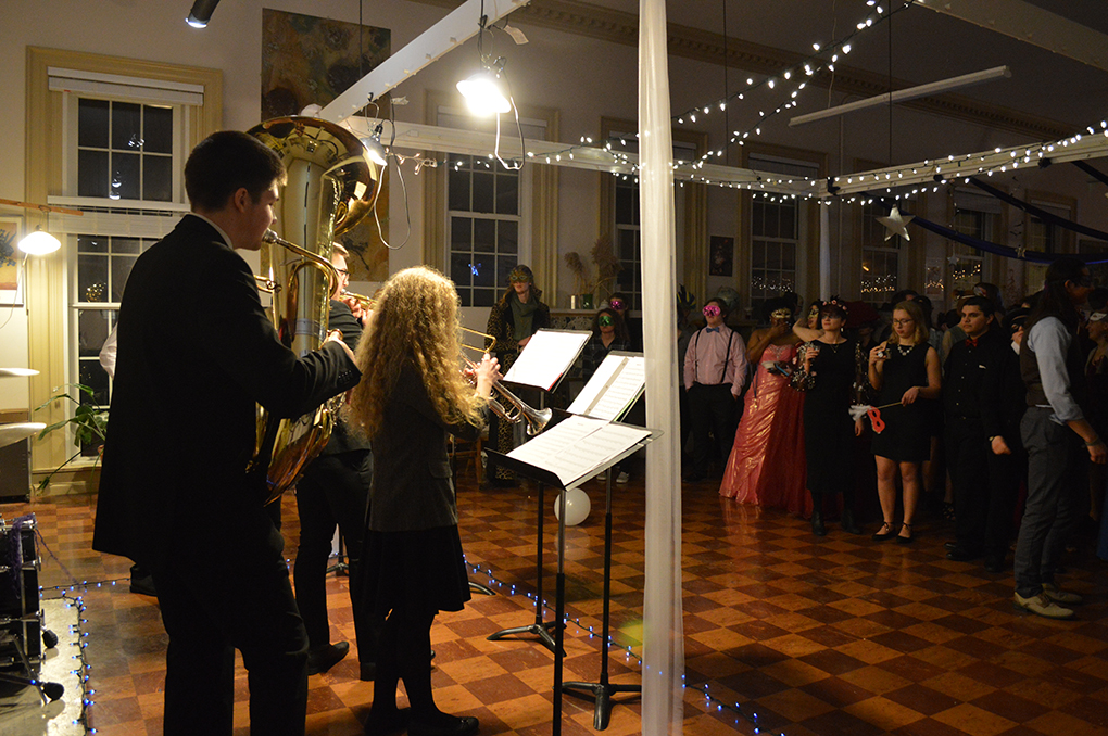 Musical performance at the masquerade