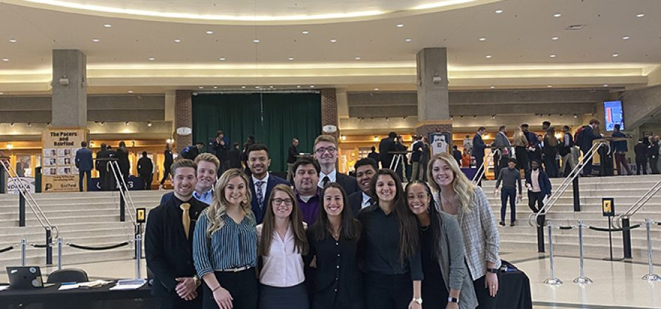 Students attend Pacers careers fair and Nets game