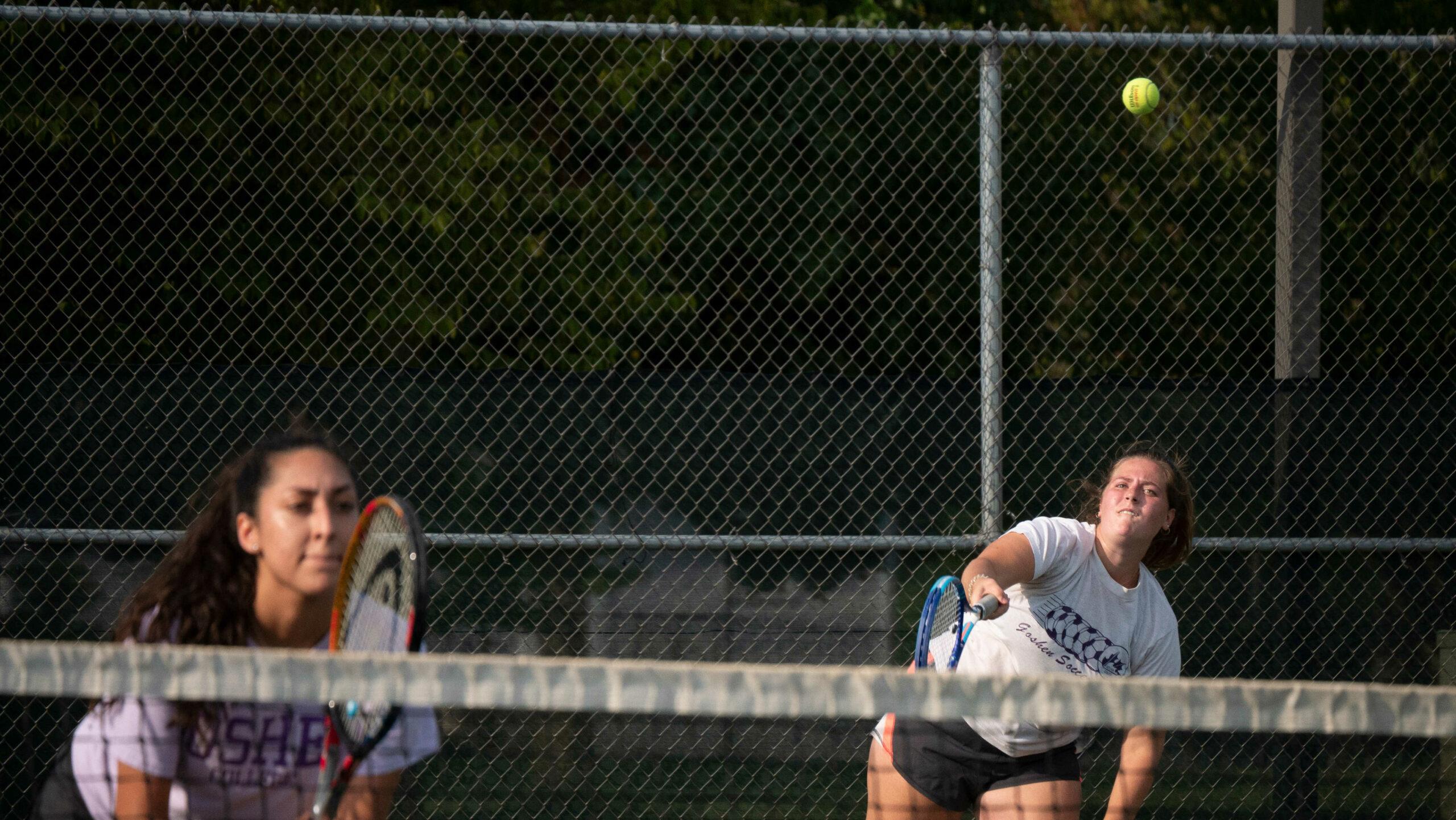Tennis practice in action