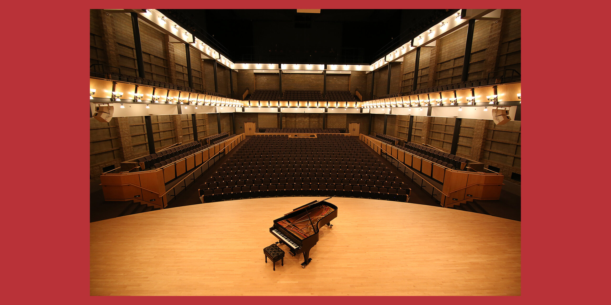 View of Sauder Concert hall from the stage