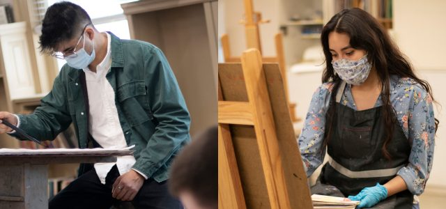 Behind the canvas: a deeper look into the lives of two art majors