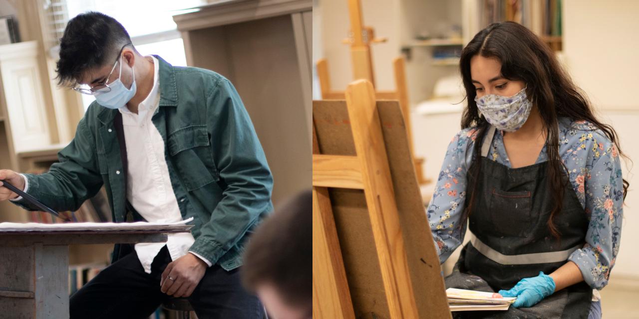 Lara and Campos at work