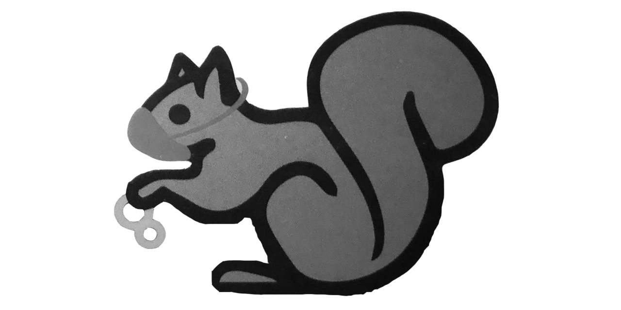 Graphic of a squirrel wearing a mask