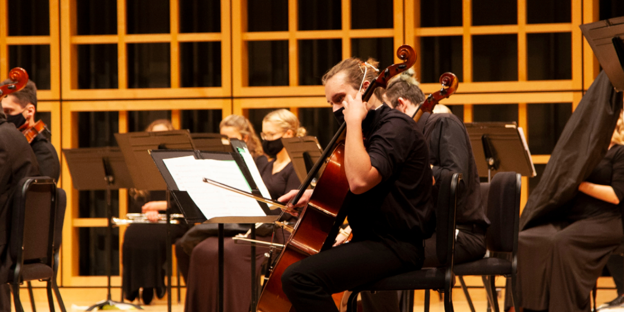 Orchestra performing in Sauder