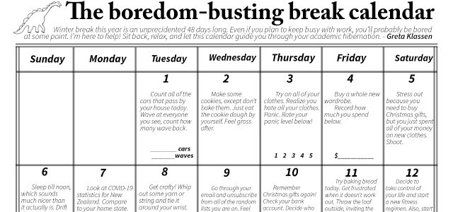 The boredom-busting break calendar