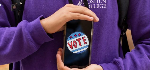 Students engage with digital election coverage