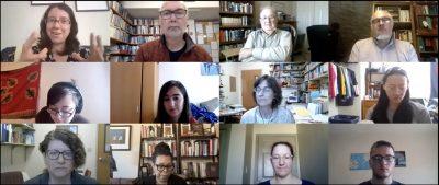 Screenshot of Bible and religion professor meeting