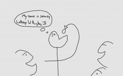 Caleb's cartoon drawing of history