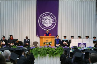 President Stoltzfus gives speech at 2019 commencement