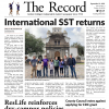 The front page of the most recent Record print issue.