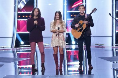 Girl Named Tom on stage at The Voice