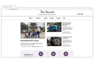 Capture of the website