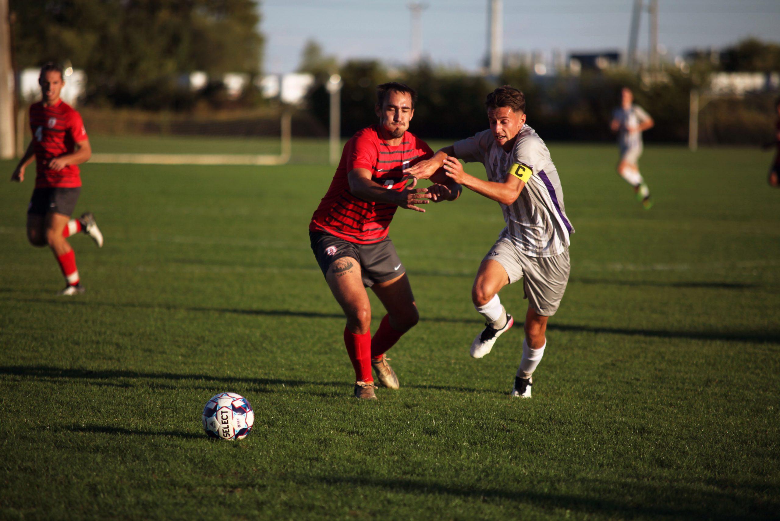 Men's soccer player in action