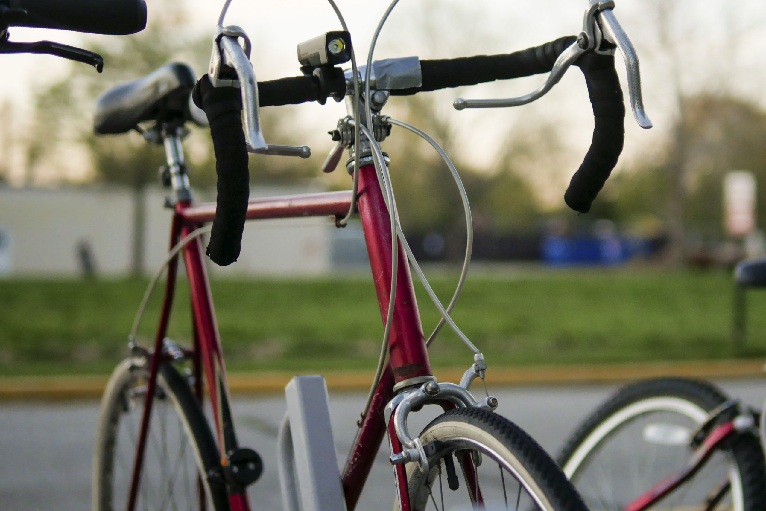 Bicycle parked on campus