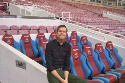 Philipp Gollner in the West Ham stadium