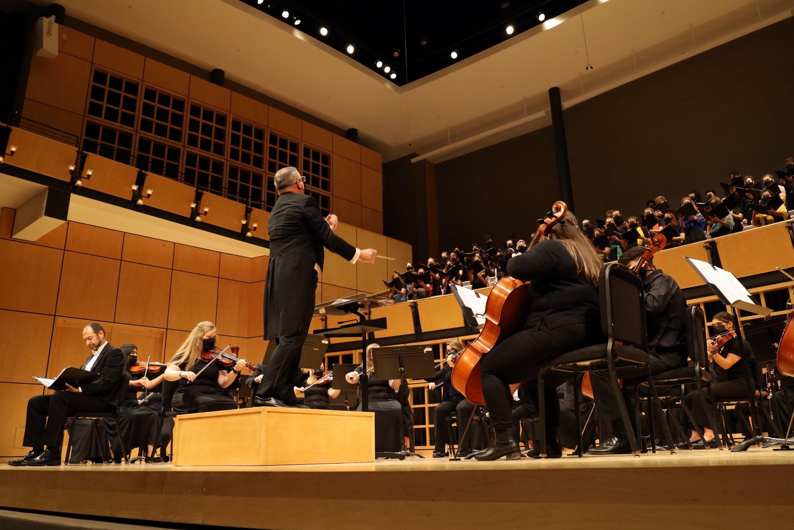 Orchestra performing at gala