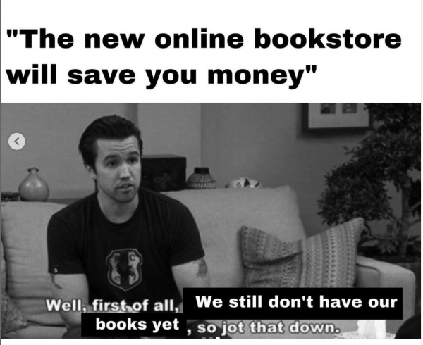 Meme about bookstore